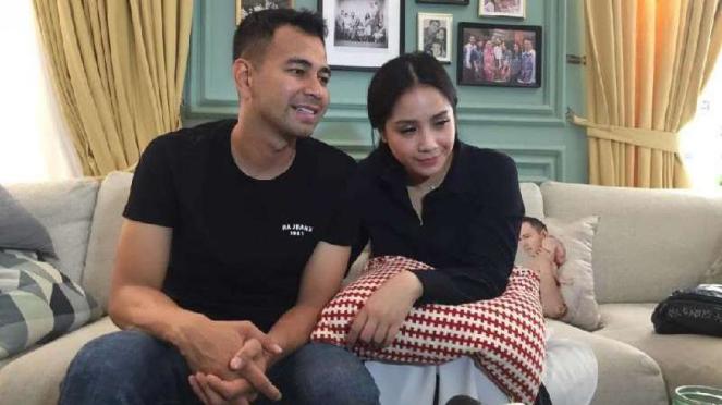 Pasangan artis Raffi Ahmad dan Nagita Slavina.