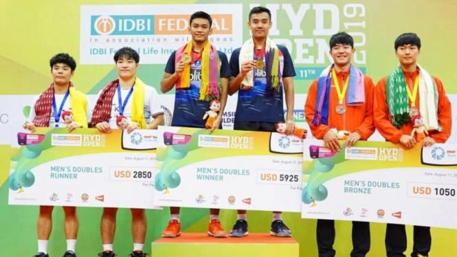 Ganda putra Indonesia, M Shohibul Fikri/Bagas Maulana juarai Hyderabad Open 2019