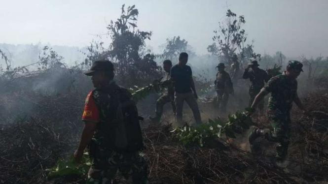 Kebakaran hutan produksi konversi (HPK) di Kabupaten Pesisir Selatan, Sumatera Barat.