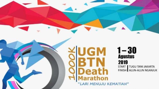 Poster lari menuju kematian yang mencatut nama BTN.