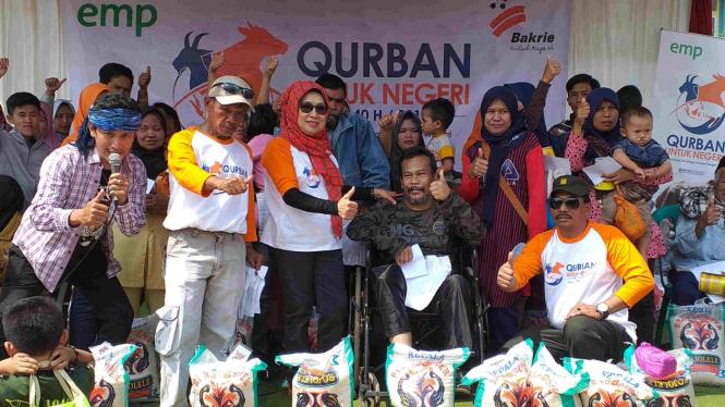 Bakrie Amanah melaksanakan Qurban untuk Negeri.