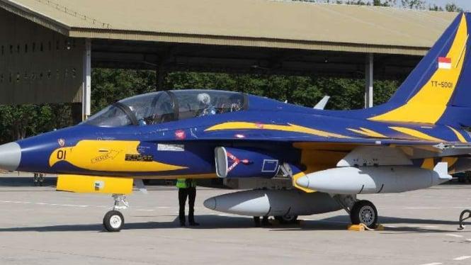 Jet tempur supersonik T-50i Golden Eagle.