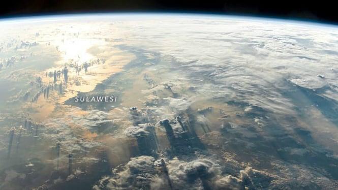 Foto Sulawesi dari stasiun luar angkasa internasional (ISS).