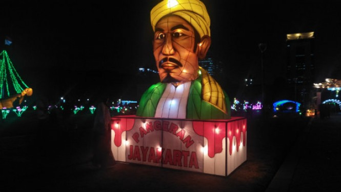 Festival lampu di monas