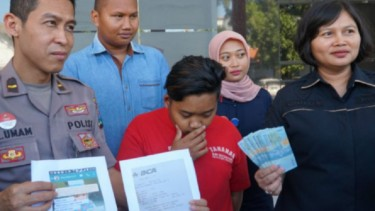 Tersangka DTS di Polrestabes Surabaya, Jawa Timur