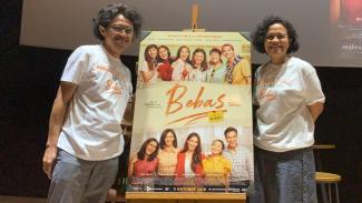Riri Riza dan Mira Lesmana dalam Peluncuran Poster dan Trailer Film Bebas.