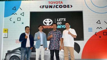 Konferensi pers acara Toyota Fun/Code