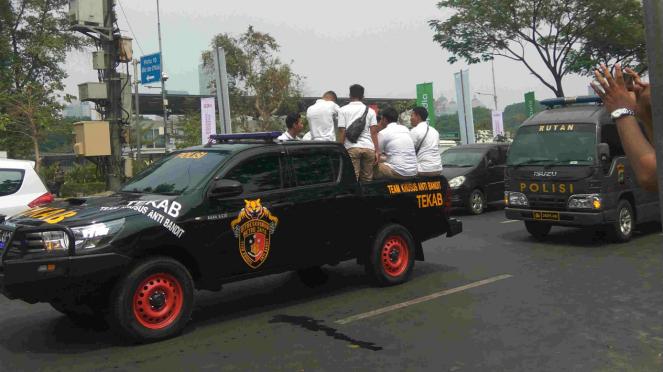 Oknum Polda Metro Jaya yang intimidasi wartawan