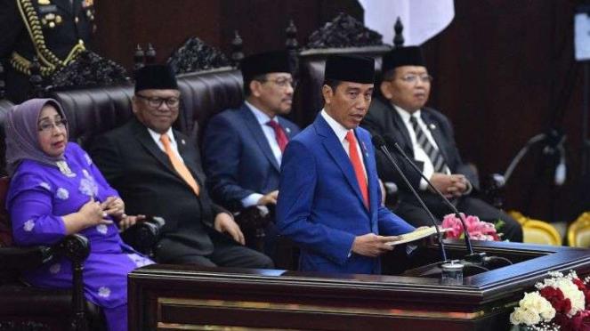 Presiden Joko Widodo sampaikan RUU tentang APBN TA 2020 disertai nota Keuangan
