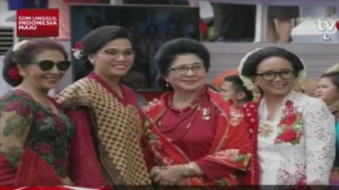 Empat menteri perempuan di perayaan HUT RI di Istana Negara
