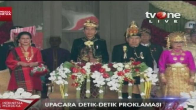 Presiden dan Wakil Presiden saat HUT RI di Istana Negara