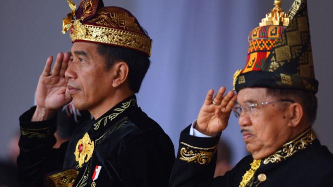 Presiden Joko Widodo dan Wapres Jusuf Kalla Upacara Kemerdekaan