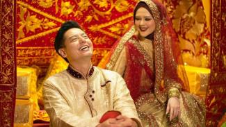 Roger Danuarta dan Cut Meyriska menggelar akad nikah di Medan, Sumatera Utara, 17 Agustus 2019.