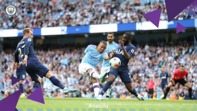 Duel Manchester City vs Tottenham Hotspur.