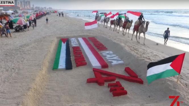 Hari Kemerdekaan RI, Warga Palestina Bikin Persembahan untuk Indonesia