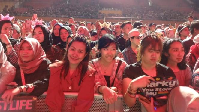 Konser Westlife di Palembang, Sumatera Selatan.