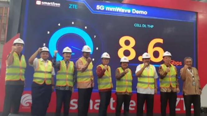 Smartfren uji coba jaringan 5G
