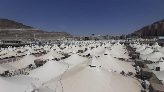 Tenda jemaah haji di kawasan Mina, Arab Saudi
