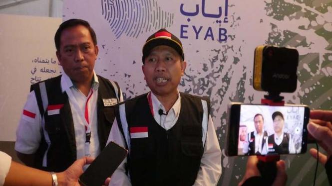 Dirjen Penyelenggaraan Haji dan Umrah, Nizar Ali di Bandara Jeddah Arab Saudi