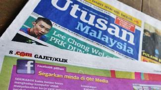Surat kabar Utusan Malaysia.