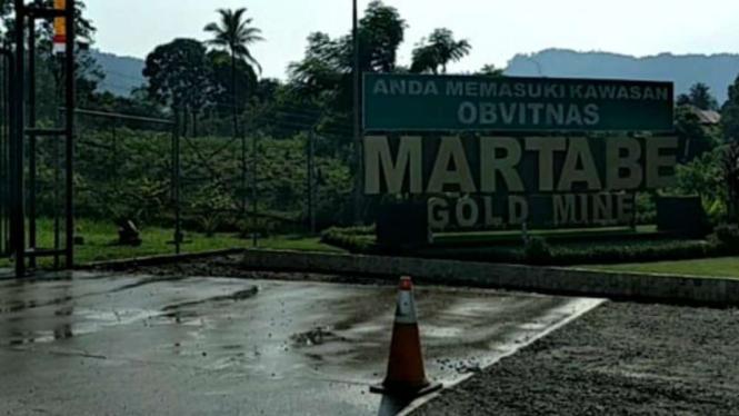 Tambang Emas Martabe di Tapanuli Selatan, Sumut.