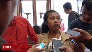 Nina Awendu mahasiswa asal Kabupaten Jayapura, Papua yang kuliah di Kota Malang. (Foto: Adhitya Hendra/TIMES Indonesia)
