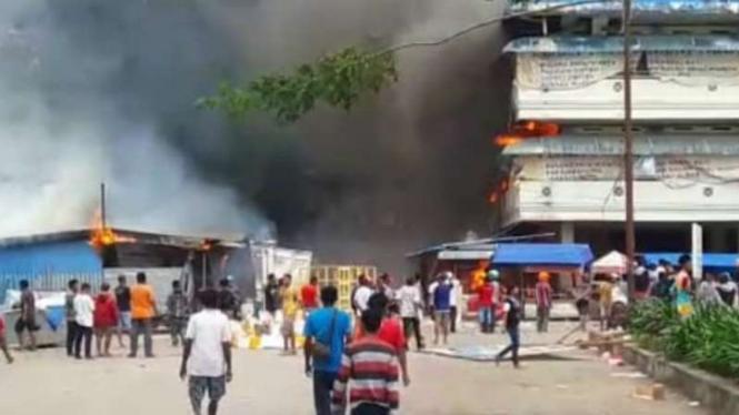 Ilustrasi Kerusuhan di Papua.