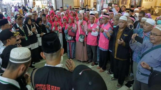Dirjen Haji, Nizar Ali melepas 450 Jemaah Haji Embarkasi SUB ke Madinah