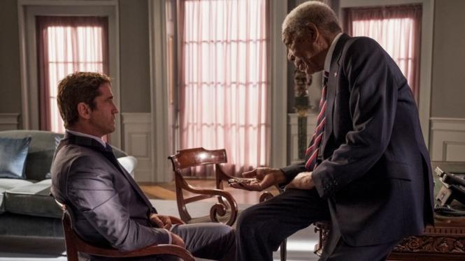 Angel Has Fallen Dibintangi Gerard Butler dan Morgan Freeman.