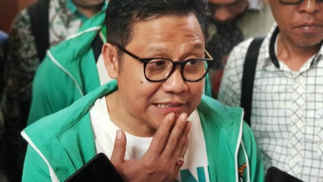 Ketua Umum PKB Muhaimin Iskandar atau Cak Imin saat Muktamar