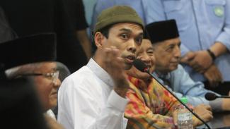 Ustaz Abdul Somad (UAS) berkunjung ke kantor Majelis Ulama Indonesia (MUI) di Jakarta, Rabu 21 Agustus 2019.