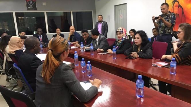 Delegasi Parlemen Indonesia bertemu dengan Menteri Olahraga Suriname
