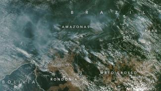 Kebakaran hebat melanda hutan hujan Amazon.