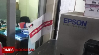 Ruang Dinas PUPK Kota Yogyakarta yang disegel oleh KPK, Senin (19/8/2019). (FOTO: Istimewa/TIMES Indonesia)
