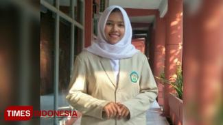 Faridah Nur Jannah Lewa, mahasiswa UNIPDU Jombang dari Timika, Papua. (FOTO: Faridah for Times Indonesia)