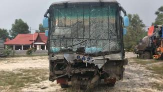 Kecelakaan beruntun di Jalan Lintas Pekanbaru