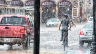 Ilustrasi musim hujan.