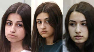 The sisters (L-R) and their ages in July 2018: Angelina (18), Maria (17), Krestina (19) - Getty Images