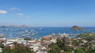Pemandangan laut di Labuan Bajo