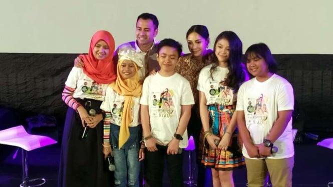 Raffi Ahmad, Nagita Slavina dan lima anak jebolan Idol Junior 2018