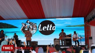 Grup Band Letto memeriahkan penutupan Santripreneur Lintas Agama 2019. (Foto: Imadudin M/Times Indonesia)