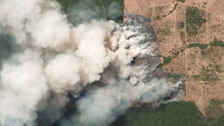 Some of the wildfires, such as this one in Pará, Brazil, cover a number of acres - Planet Labs Inc.