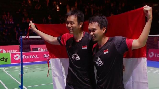 Hendra Setiawan dan Mohammad Ahsan Juara Dunia 2019.