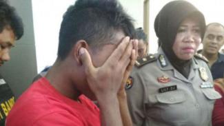 Pelaku pencabulan di Polrestabes Surabaya, 28 Maret 2018 (foto ilustrasi)