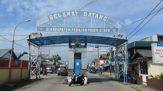 Gerbang Selamat Datang di Kabupaten Penajam Paser Utara Kalimantan Timur