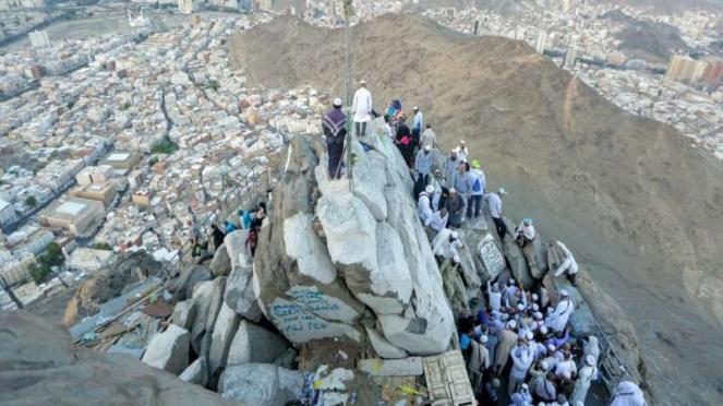 Pemandangan Kota Mekah dari puncak Jabal Nur, Gua Hira