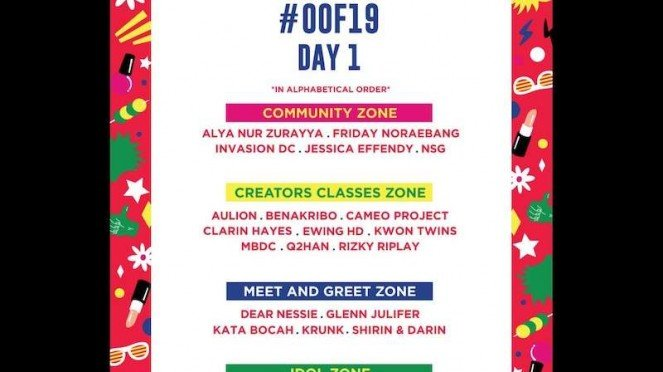 ON OFF Festival line up day 1.