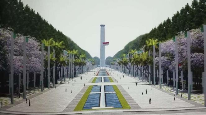 Plaza Merah Putih di Ibu Kota Baru.