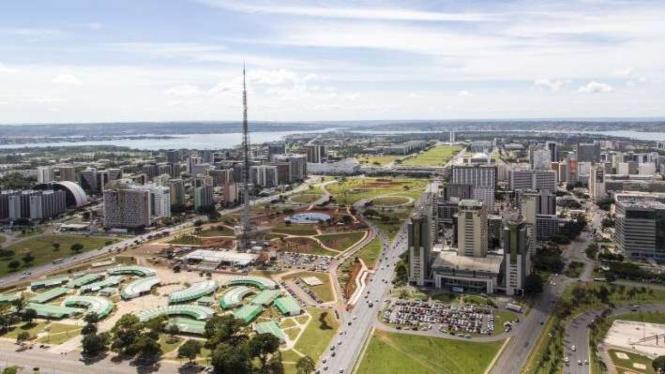 Pemandangan Kota Brasilia, ibu kota Brasil sejak 1960.