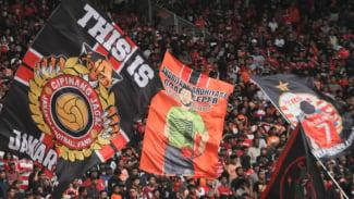 HUT Persija ke-92, Nyala Warna Merah dan Oranye di Jakarta